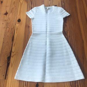 Michael Kors White Stretch A-line Dress